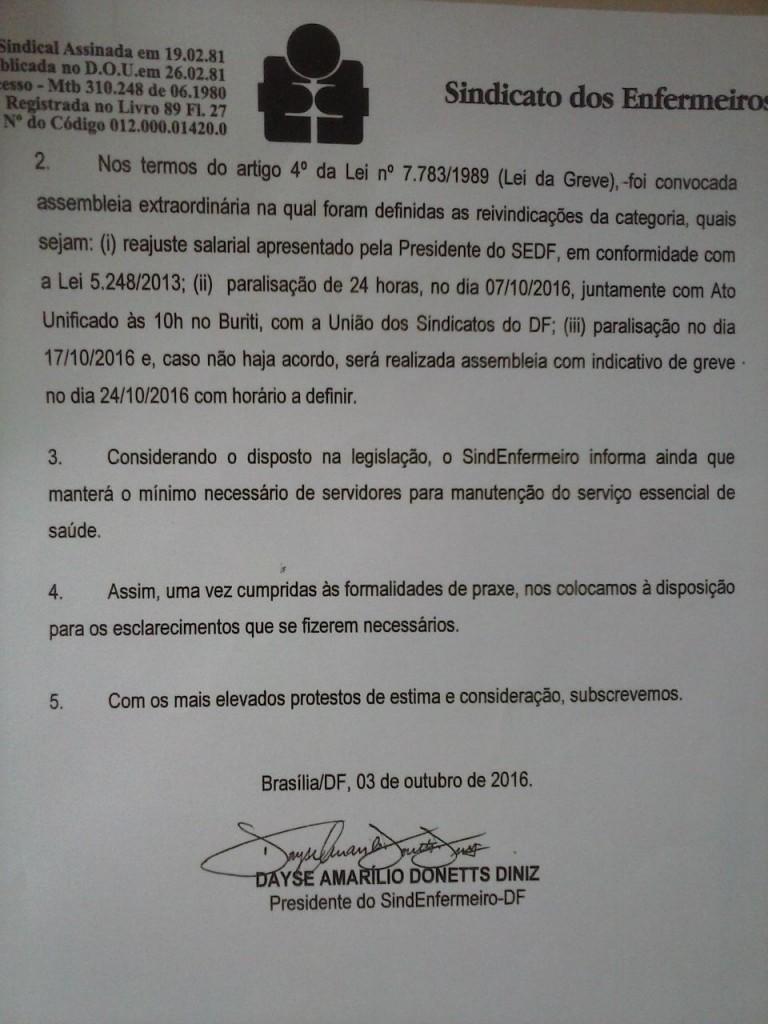 Ofício ao GDF